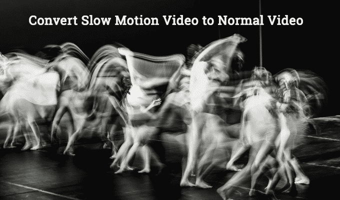 Convert Slow Motion Video to Normal Video on iPhone or iPad