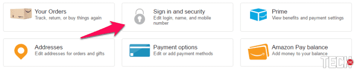 nable Two-step Verification on Amazon