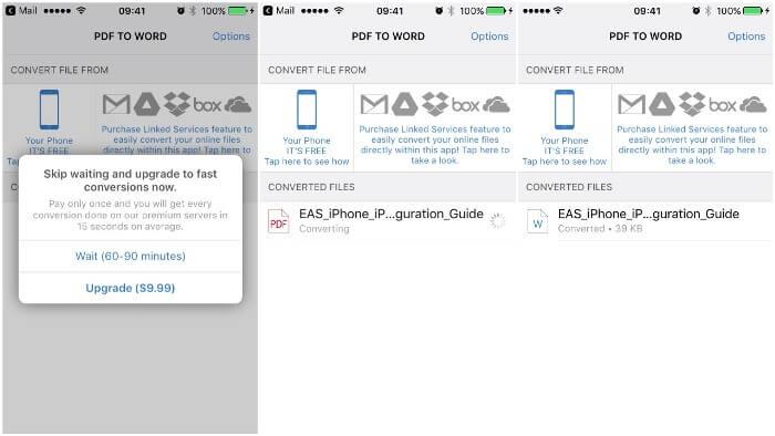 PDF to Word iOS app