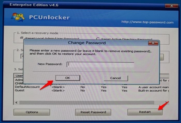 Reset Windows Password Easily
