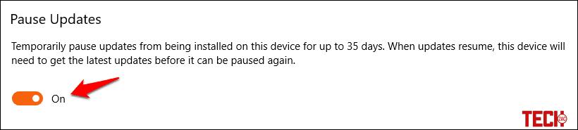 Pause Windows 10 Update to Increase Internet Speed