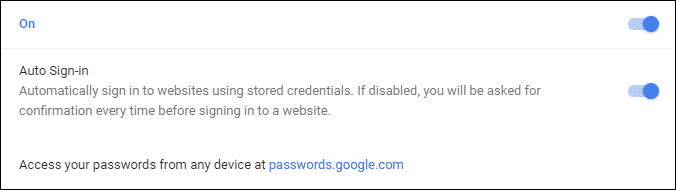 Export Saved Passwords from Chrome