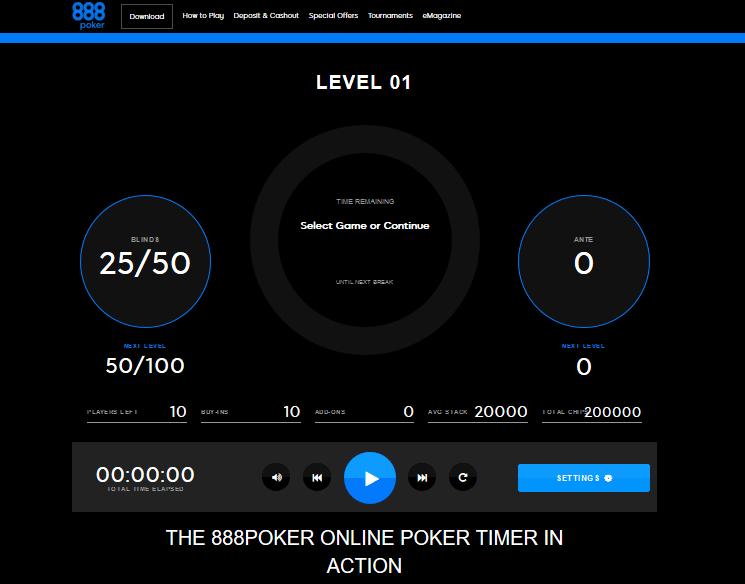 Online Poker Timer