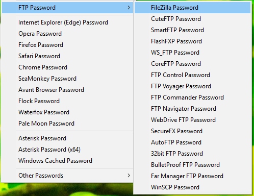 Retrieve Passwords Saved in Web Browsers and FTP Clients