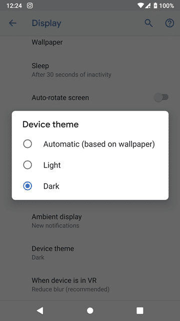How to Turn On Dark Mode in Android P